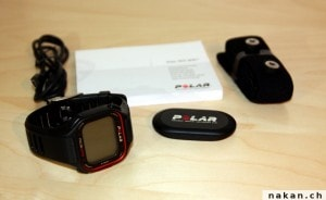 Polar RC3 GPS Contenu de la boite