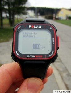 Polar RC3 GPS tour automatique