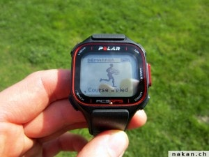Polar RC3 GPS dmarrer entrainement