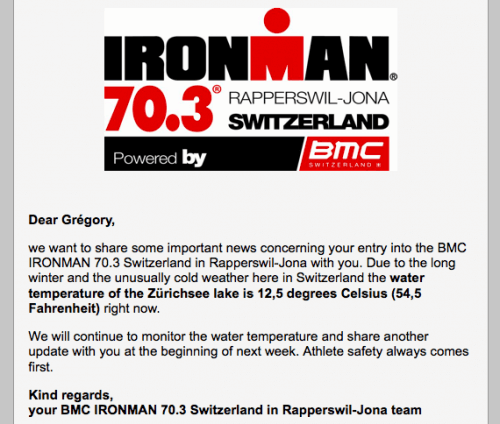 Mail Ironman 70.3 Rapperswil 2013