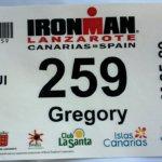 Dossard Ironman Lanzarote 2012