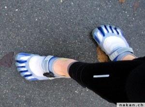 Garmin Footpod sur les Vibram Five Fingers