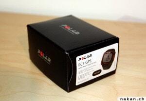 La boite de la Polar RC3 GPS