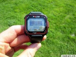 Polar RC3 GPS page d'entrainement