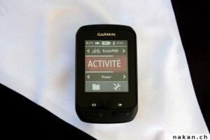 Edge 510 Activité