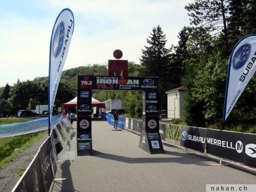 Ironman 70.3 Muskoka: ligne d'arrivée