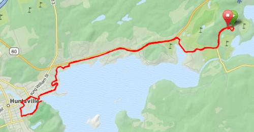 Ironman 70.3 Muskoka: parcours de course à pied