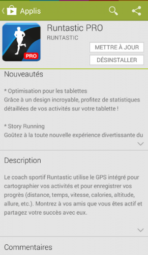 Runtastic update