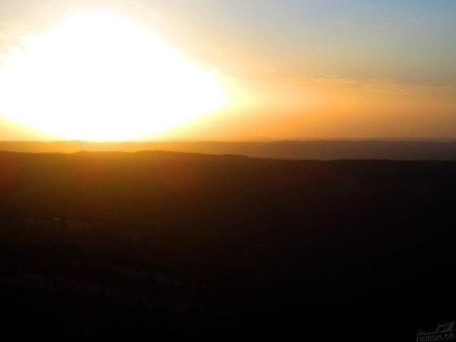 Courcher du soleil sur le Jura