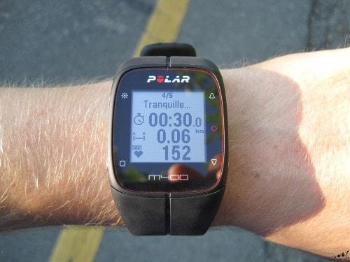 Entrainement sur la Polar M400