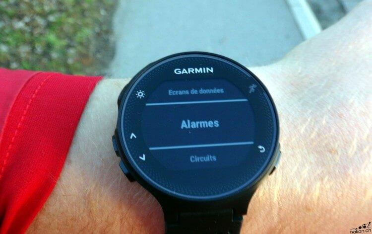 garmin_fr235_config_alarmes_web