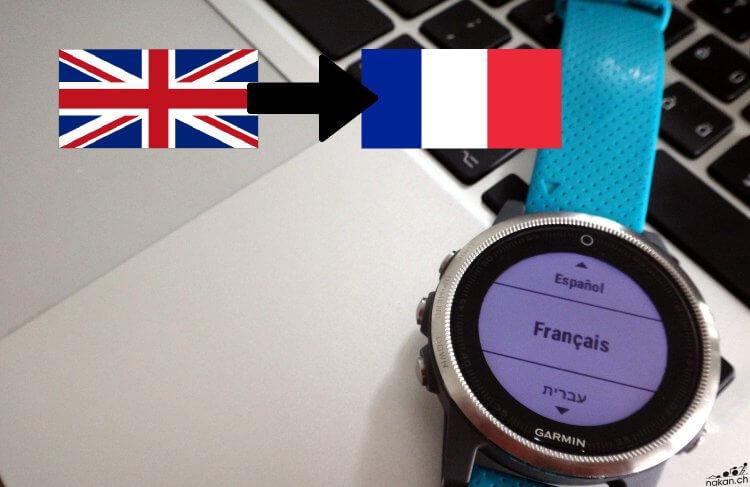 Remettre en français une montre Garmin bloquée en anglais (édition 2017) - nakan.ch