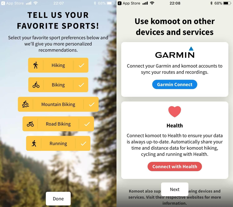 gr ce l 39 application komoot on cr des parcours pour sa garmin depuis le smartphone. Black Bedroom Furniture Sets. Home Design Ideas