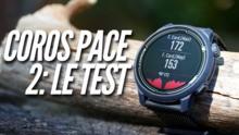 Test de la montre Coros Pace 2