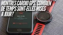 Combien de temps sont mises à jour les montres GPS?