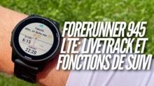 Garmin Forerunner 945 LTE LiveTrack et messages de spectateurs